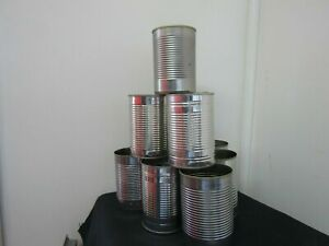 10 Empty Tin Cans  (400g) Arts Crafts Gardening Planters Hobbies candles