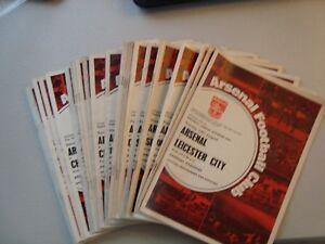 Full set of Arsenal home programmes 1968-69 - 28 programmes in all