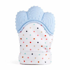 Blue Baby Silicone Mitts Teething Mitten Teething Glove Candy Wrapper  Teether