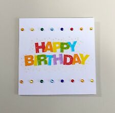 Happy Birthday Mini Greeting Card (3x3)
