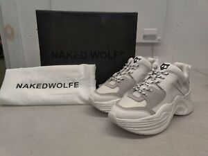 Naked Wolfe Track White Sneakers - US Size 9