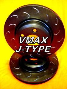 SLOTTED VMAXJ fits SAAB 9-3 2.8L V6 Turbo 2005 Onwards FRONT Disc Brake Rotors