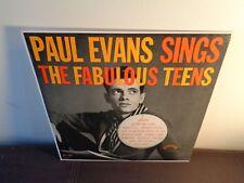 1960 PAUL EVANS LP GUARANTEED Sings The Fabulous Teens OLDIES TEEN SOUND ROCK