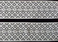 Antike unbenutzte Weiß Wäsche Spitze 100% reine Baumwolle 47mm  Weiß um 1930