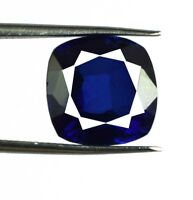 Kashmiri Royal Blue Sapphire Natural Gemstone Cushion 10.40 Ct Certified C1605