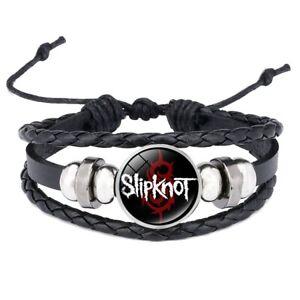 Slipknot Adjustable Leather & Glass Cabochon Wristband