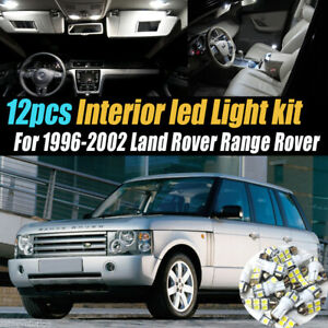 12Pc Super White Car Interior LED Light Kit for 1996-2002 Land Rover Range Rover