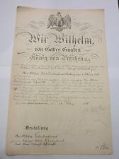 Urkunden Konvolut, Obermillitär Intendanturrat, Oberstleutnant  (Art.2731)