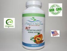 100% Real  Bitter Organic B17 Apricot Kernel Seed Extract 600mg USA Made