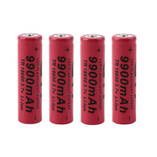 4pc 3.7V 18650 9900mAh Li-ion Rechargeable Battery For Flashlight Torch LO