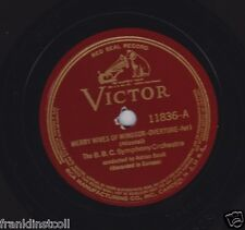 BBC Symphony cond. Adrian Boult on 78 rpm Victor 11836: Merry Wives of Windsor