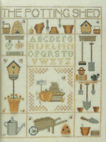 Potting Shed Garden Sampler Counted Cross Stitch Pattern Chart from publication