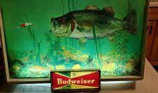 Budweiser Lighted Sign Bass Fish Advertising Lighted SignAnheuser Busch