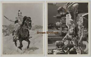 "Vintage 1953 Hollywood ""Julius Caesar"" Marlon Brando Horseback DBW Photos (2)"