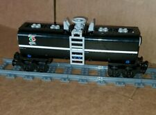 "NEW LEGO TRAIN BLACK CUSTOM TANKER CAR 9"" inches long MOC/RC/9V/CITY/TOWN"