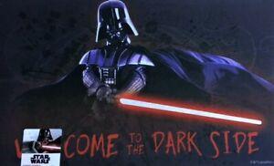 Disney Star Wars Darth Vader Welcome To The Dark Side 18x30L Rubber Door Mat New