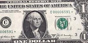 STAR NOTE 1969 B $1 DOLLAR BILL ( PHILADELPHIA ) Super Low Serial # UNCIRCULATED