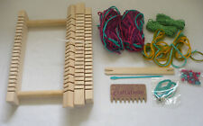 Craftabelle Wooden Loom with Yarn, Shuttle, Comb +