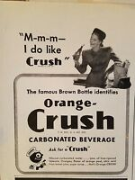 1946 Orange Crush carbonated beverage soda woman grocery shopping ad
