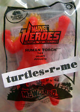 Hot HTF McDonald's MIP Marvel Heroes HUMAN TORCH Action LIGHT-UP Toy #6
