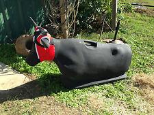 Something Steer Roping Dummy - Black SALE PRICE!  Team Roping (Bones Jakesteer)