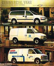 2000 Chevy COMMERCIAL VANS Brochure / Catalog: ASTRO,EXPRESS,VENTURE, 3500,  '00