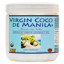 Organic 100% Virgin Coconut Oil Manila Coco Appetite Supress & Weight Loss 16 oz