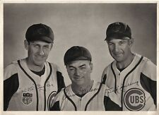 1942 Baseball Wire Photo,Kiki Cuyler, Jimmie Wilson & Dick Spalding,Chicago Cubs