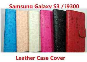 Premium Leather Stand Flip Case Cover for Samsung Galaxy S3 i9300
