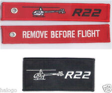 ROBINSON R22 HELICOPTER PATCH & KEYCHAIN SET -PPL022/KEY022