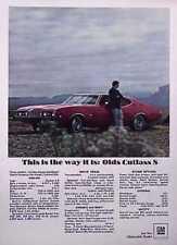 1968 OLDSMOBILE CUTLASS S / 350 ROCKET V-8  ~  NICE ORIGINAL PRINT AD