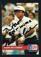 Mark McCumber #110 signed autograph auto 1992 Pro Set Golf Trading Card