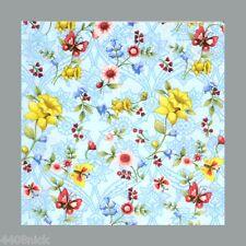 5 X Tovaglioli di Carta - Fiori E Farfalle
