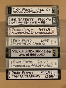 Pink Floyd audio DAT tapes collection lot rock music
