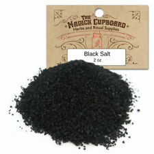 Black Salt 2 oz Package for Protection Spells Banishing Wicca Hoodoo Witch