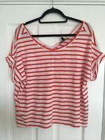 Banana Republic Red & White Striped Tshirt - Small