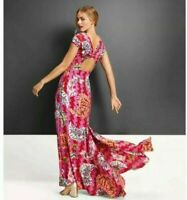 New ZAC POSEN for Target Size 18 Safety Pin Print Sweetheart Maxi Dress (B220)