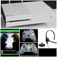 XBOX ONE WEISS WHITE CONTROLLER HALO HEADSET KONSOLE HALO 5 EDITION LONDON
