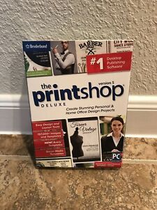 Print Shop Deluxe 5.0 2019 (Latest Version) PC *NEW* Sealed Software