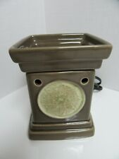 Scentsy Wax Warmer Lotus Green with Round Medallion with Bulb No box