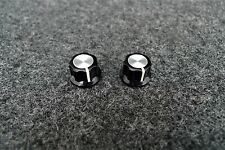 2 HOFNER Black Volume & Tone Guitar Control Knobs For HCT500 BEATLE & CLUB BASS