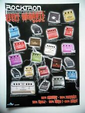 PUBLICITE-ADVERTISING :  Effets ROCKTRON  07-08/2007 Guitares