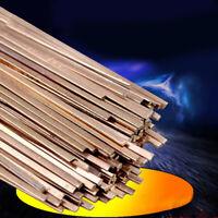 10pcs 3x1.3x400mm Low Temperature Flat Soldering Rods For Welding Brazing RepaJH