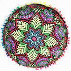Mandala Round Throw Pillow Case Sofa Cushion Cover Indian Bohemian Floor Pillows