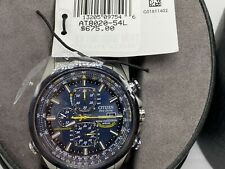 Citizen AT8020-54L Blue Angels Stainless Steel Eco-Drive Men's Watch MSRP $675