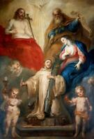 """perfect 24x36 oil painting handpainted on canvas""""holy trinity""""@15127"""