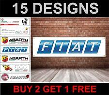 Abarth PVC Banner Garage Workshop Fiat 500 Punto Evo 500C Sign