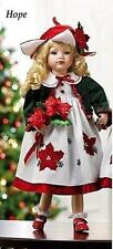 "Great Christmas Gift 20"" holidays Porcelain Hope Doll with Poinsettia # 20132"