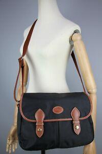 LONGCHAMP Authentic France Longchamp Crossbody Messenger Bag Black Size Medium