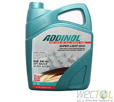 5 Liter Motoröl Addinol SUPER LIGHT 0540 5W-40 Motorenöl 5W40 MV 0546 Aktion